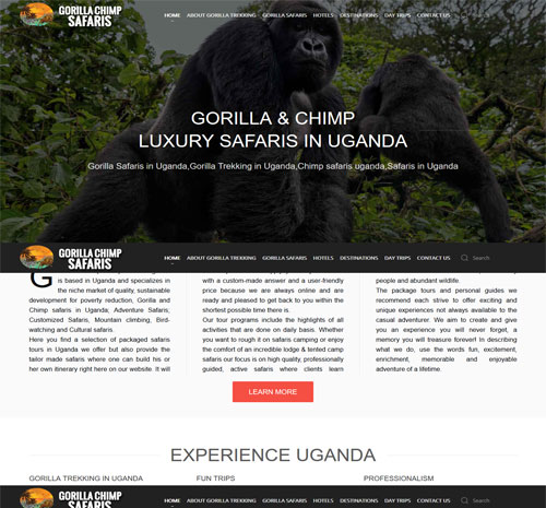 Gorilla & Chimp Luxury Safaris Uganda