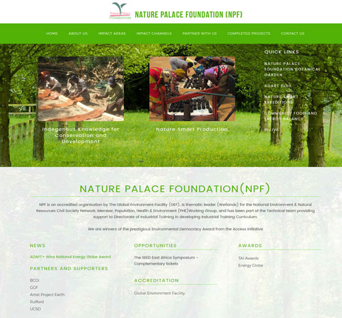 Nature Palace foundation Uganda